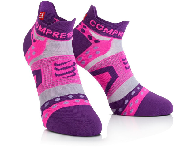ad309f01 Compressport Pro Racing Ultralight Run Low Skarpetki do biegania  różowy/fioletowy